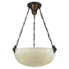 Antique Neoclassical Inverted Dome Chandelier, c. 1910's