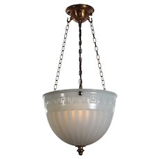 Antique Neoclassical Inverted Dome Light, Luminous Unit Co.