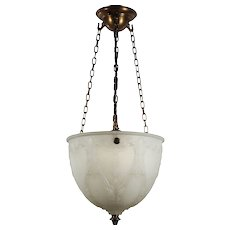 Antique Inverted Dome Chandelier, Early 1900's