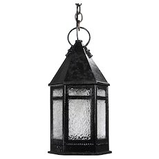 Antique Cast Iron Lantern Pendant, c.1910