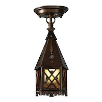 Tudor Lantern Flush Mount Lantern, Antique Lighting