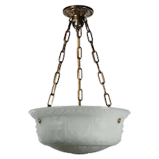 Antique Neoclassical Inverted Dome Chandelier, c. 1920's