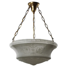 Antique Neoclassical Inverted Dome Chandelier