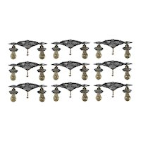 Matching Antique Two-Tone Flush Mount Fixtures