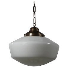 Large Antique Schoolhouse Pendant Light