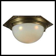 Antique Inverted Dome Flush Chandelier