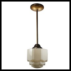 Antique Art Deco Skyscraper Pendant Light