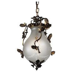 Georgian Pendant Light, Antique Lighting