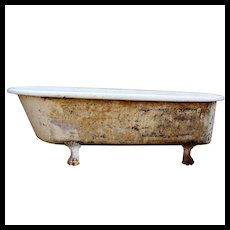 Rare Antique Clawfoot Bath Tub, 6'