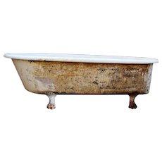Rare Antique Clawfoot Bath Tub, 6'