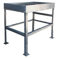 Reclaimed Industrial Work Table, Colonial Bread