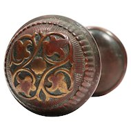 "Beautiful Antique ""Amarat"" Bronze Door Knob Sets by Russell & Erwin, 1892"