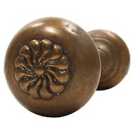 "Antique Cast Bronze ""Putnam"" Door Knob Sets by Corbin, c.1895"