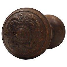 "Antique ""Oakdale"" Doorknob Sets by Lockwood, c. 1914"