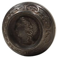 "Antique ""Lady"" Figural Cast Iron Knob, c.1875"