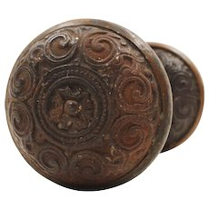 Antique Neoclassical Doorknob Set by Corbin, c.1875