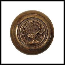 Antique Cast Bronze Elk Doorknob, BPOE