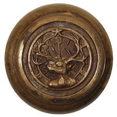 Antique Cast Bronze Elk Doorknob, BPOE