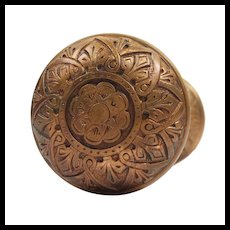 Antique Cast Bronze Doorknob Set by Russell and Erwin, c. 1875