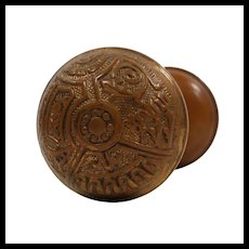 "Antique Eastlake ""Ceylon"" Door Knob Sets by Corbin, c.1895"