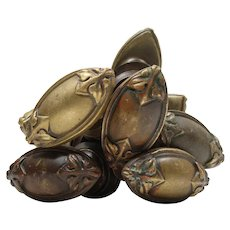Antique Cast Bronze Oval Doorknob Sets