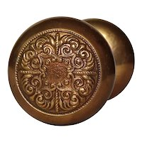 Brass Eastlake Doorknob Set, Antique Hardware