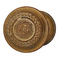 Antique Bronze Doorknob Set by Russell and Erwin, c. 1905