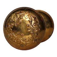 """Antique Bronze P. & F. Corbin """"Lorraine"""" Door Knob Set"""