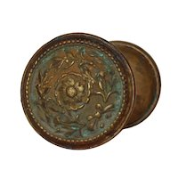 """Antique """"Courtray"""" Doorknob Set by Reading Hardware, c. 1900"""