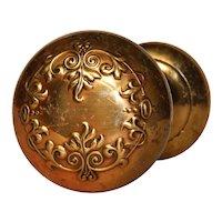 """Antique """"Vittoria"""" Doorknob Set by Corbin, c. 1895"""