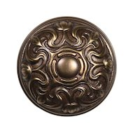 "Elegant Antique Cast Bronze Lockwood ""Normandy"" Doorknob, Fleur-De-Lis, c. 1914"
