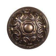 "Elegant Antique Cast Bronze Lockwood ""Normandy"" Doorknob, Fleur-De-Lis, c. 1914"