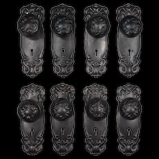 "Antique Art Nouveau ""Alby"" Door Hardware Sets by Sargent, c. 1910"
