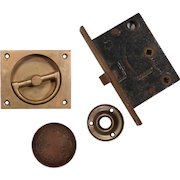 Complete Antique Hardware Set by Corbin with Recessed Handle