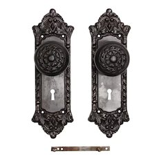 """Antique Cast Iron """"Chatham"""" Door Hardware Sets by Russell & Erwin, c. 1909"""