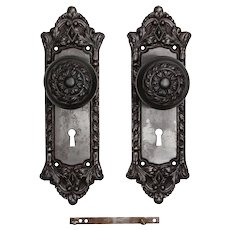 "Antique Cast Iron ""Chatham"" Door Hardware Sets by Russell & Erwin, c. 1909"