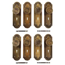Antique Brass Door Hardware Sets, Early 1900's