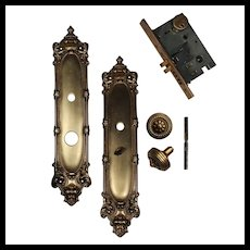 Vintage Brass Door Hardware Set by Baldwin