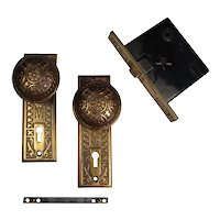 Antique Eastlake Brass Door Hardware Sets by Sargent