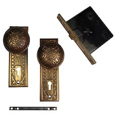 Antique Eastlake Brass Door Hardware Sets by Sargent