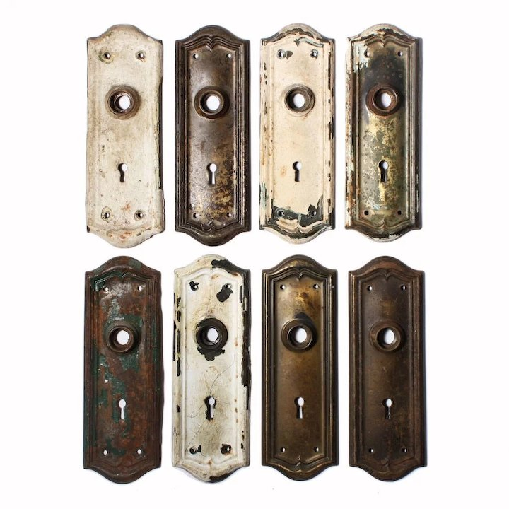 Superb Antique Door Backplates with Arches - Superb Antique Door Backplates With Arches : Preservation Station
