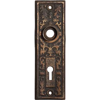 "Antique Eastlake ""Montello"" Doorplates by Reading Hardware, c. 1910"