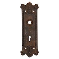 "Antique Cast Iron ""Chatham"" Door Plates, Russell and Erwin, c.1900's"