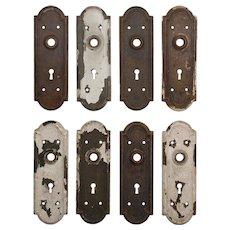Salvaged Antique Arched Doorplates