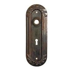 Reclaimed Antique Oval Doorplates, Bronze
