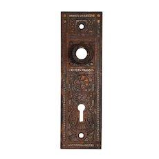 Petite Antique Eastlake Doorplates, Late 19th Century
