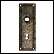 Reclaimed Antique Neoclassical Egg-&-Dart Door Backplates