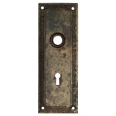 Reclaimed Antique Neoclassical Egg-&-Dart Door Backplates