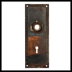 Salvaged Antique Neoclassical Egg-&-Dart Door Backplates, Early 1900s