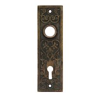 Antique Eastlake Cast Bronze Doorplates, Late 19th Century